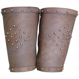 Leather greaves - fantasy (pair)