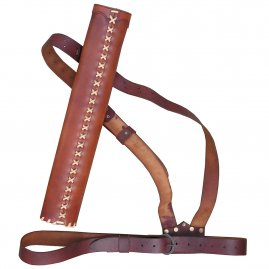 Leather quiver with straps