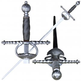 Rapier with shell guard