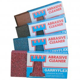 Abrasive gum cleaner for metal etc.