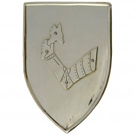 Decorative shield from brass