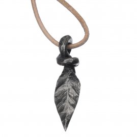 Pendant Hand-forged leaf