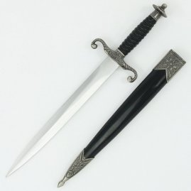Renaissance Dagger with curled guard