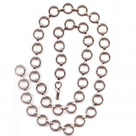 Metal belt of linked rings, set of 5