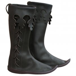 Medieval side lace-up boots