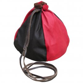 Two-coloured leather pouch 18cm