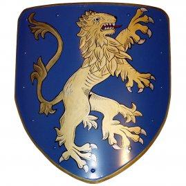Shield with a coat of arms with lion