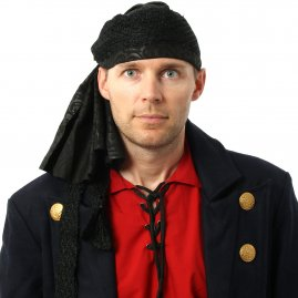 Pirate Black Bandanna - sale