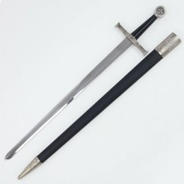 Simple Templar sword with scabbard