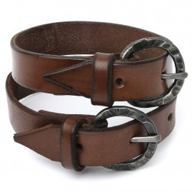 Straps from quality leather (pair, 2 pieces)