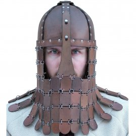 Norman leather helmet with scale armor
