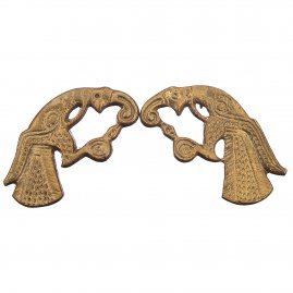 Pair of eagle fittings, Hugin und Munin, Gotland