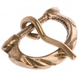 D-shaped brass buckle
