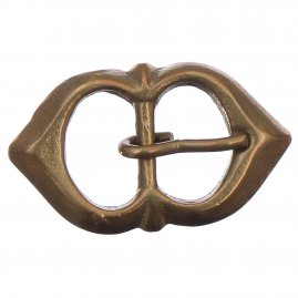 Late medieval double loop buckle small