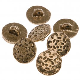 Brass button with flower pattern (1pc)