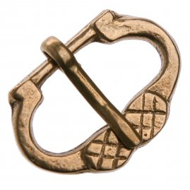 Late Gothic Brass Buckle V4