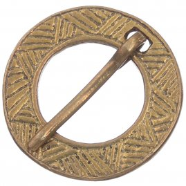 Mediaval brooch, roped pattern