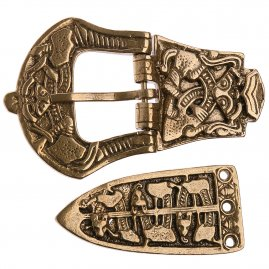 Viking Celtic Belt buckle with chape and strap end, Jellinge Style