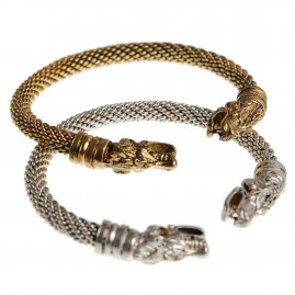 Gotland Dragon Heads Viking bracelet