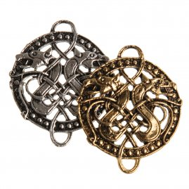 Irish Celtic Knot and Double Dragon Pendant