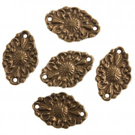 Medieval brass flower belt fitting