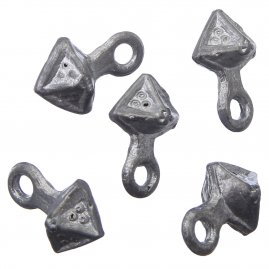 Pewter pyramid button 1 Pc., 14.-15. century