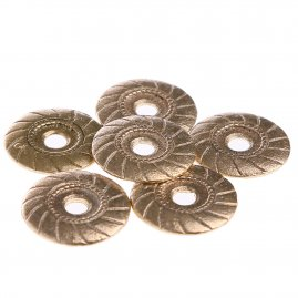 Brass button polished (1 pc)