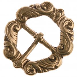 Ornate Brass Buckle, 16th-17th century