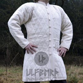 Long Gambeson with buttons, natural