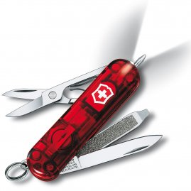 Swiss knife SilverTech, SwissLite, RED transp. with LED