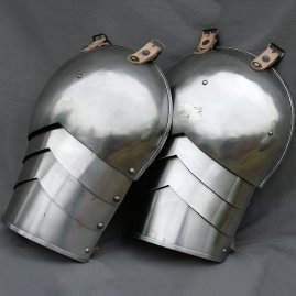 Pair of steel pauldrons