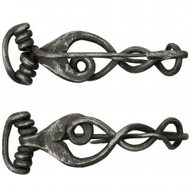 Filigree barrette, hand forged