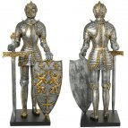 Knight in a gilded armor, 55cm figure