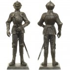 Statue of a knight in Maxmilian armor, 65 cm