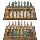 Arabian vs Christian Crusade Chess Pieces